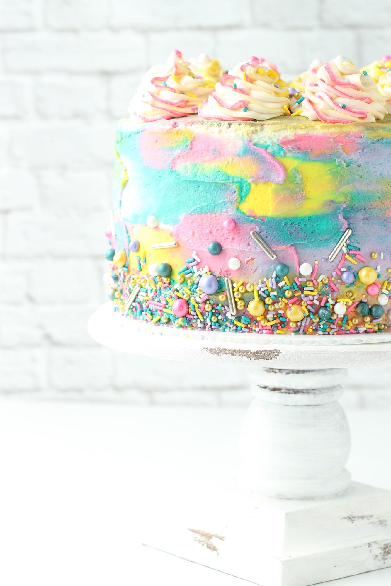 Admirable Pink Lemonade Cake The Saucy Fig Funny Birthday Cards Online Drosicarndamsfinfo